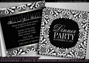black_white_tribal_fusion_dinner_party_invitation