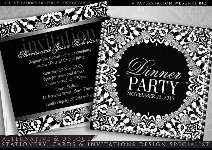 Stylish Glam Gold Black Art Deco Invitations