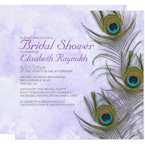 rustic_peacock_feather_bridal_shower_invitations