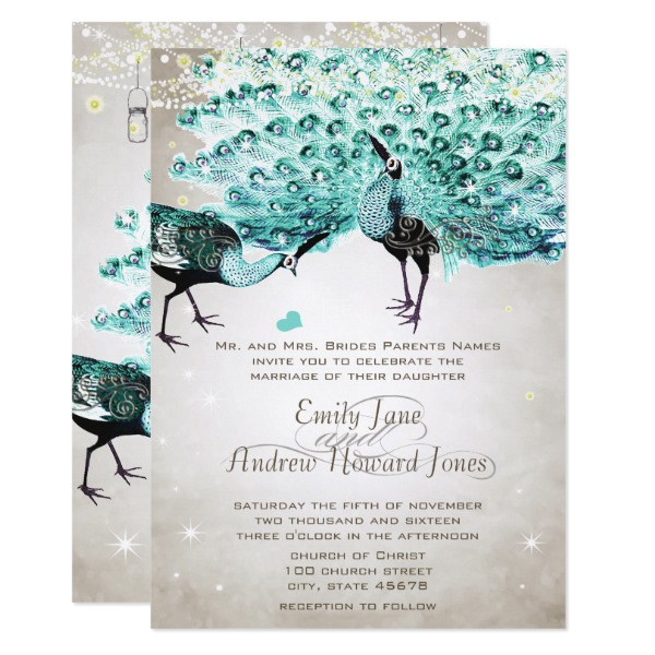 rustic_romantic_mason_jar_mint_peacock_wedding_card