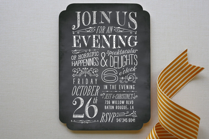 Chalkboard Invitations  Design Style Trends  Partyinvitecards