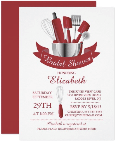 Modern Stock The Kitchen Bridal Shower Invitation by invitationstop