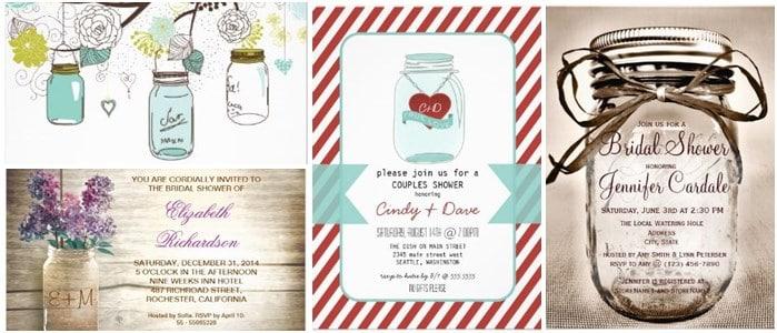 mason jars shower invitations - 2013 popular wedding trends, Invitation templates