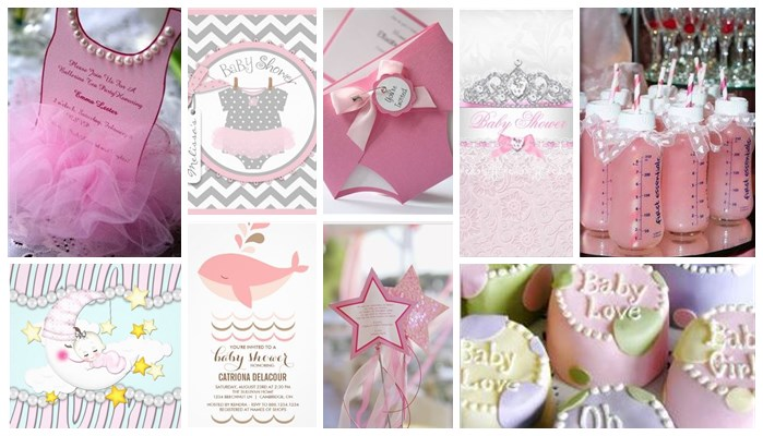 girly cute pink girl baby shower invitations & party ideas, Baby shower invitations
