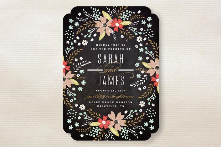 Chalkboard Wedding Invitations: Chalkboard Invitations & Design Style Trends