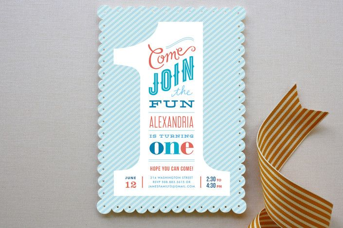 Modern Cute Baby Boy 1st Birthday Invitations Party ideas – The Big One Birthday Invitation