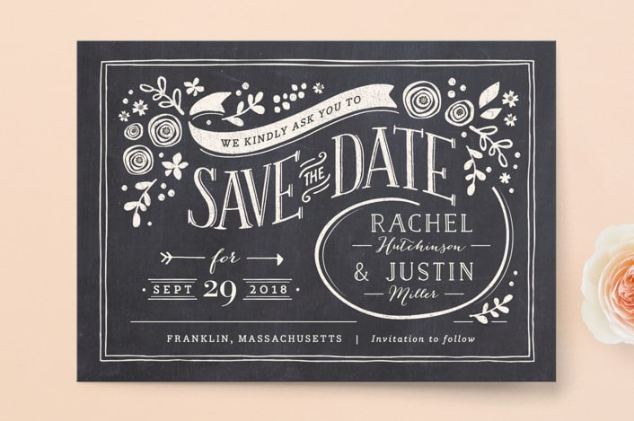 alabaster florals SAVE THE DATES