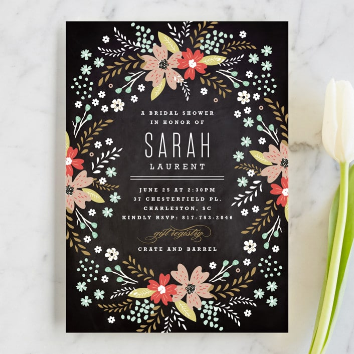 chalkboard-floral-bridal-shower-invitations