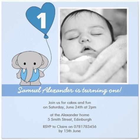 Cute Baby Boy 1st Birthday Party Invitations partyinvitecards