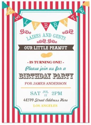 Fun Circus Birthday Party Invite