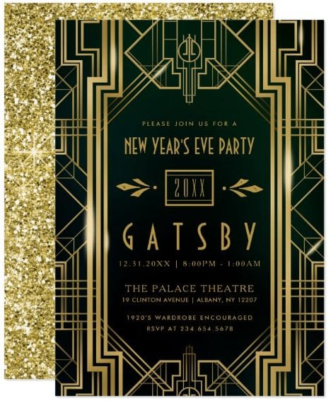 NEW YEAR'S EVE PARTY INVITATION | Gatsby Art Deco by DearBeautifulYou