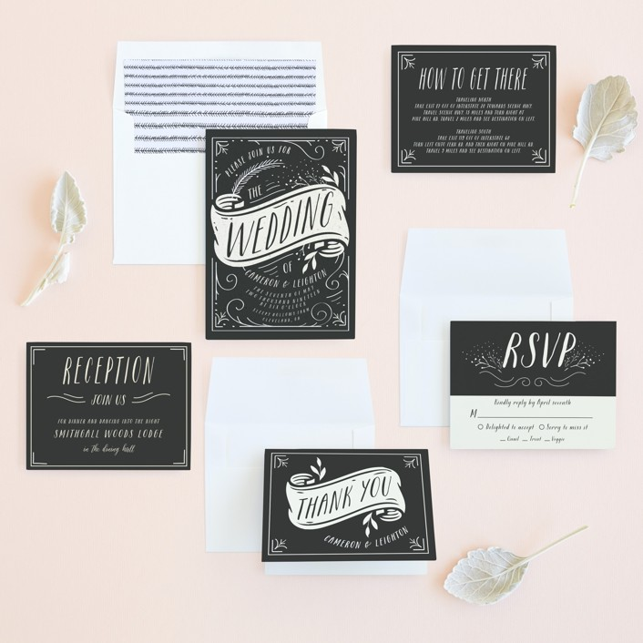 vintage-banner-wedding-invitations-suite
