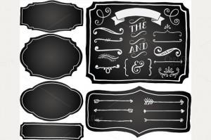 Chalk Board Frames and Doodles