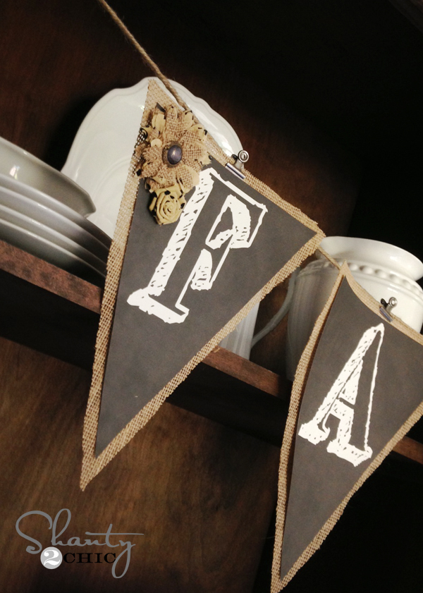 Free Printable Chalkboard Banner Letters | Shanty2Chic