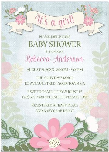 Invitations Party Ideas Spring Fresh Baby Shower Designs
