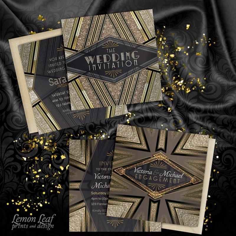 1 ArtDecoGlam Wedding Engage Display Webgrrl LLP