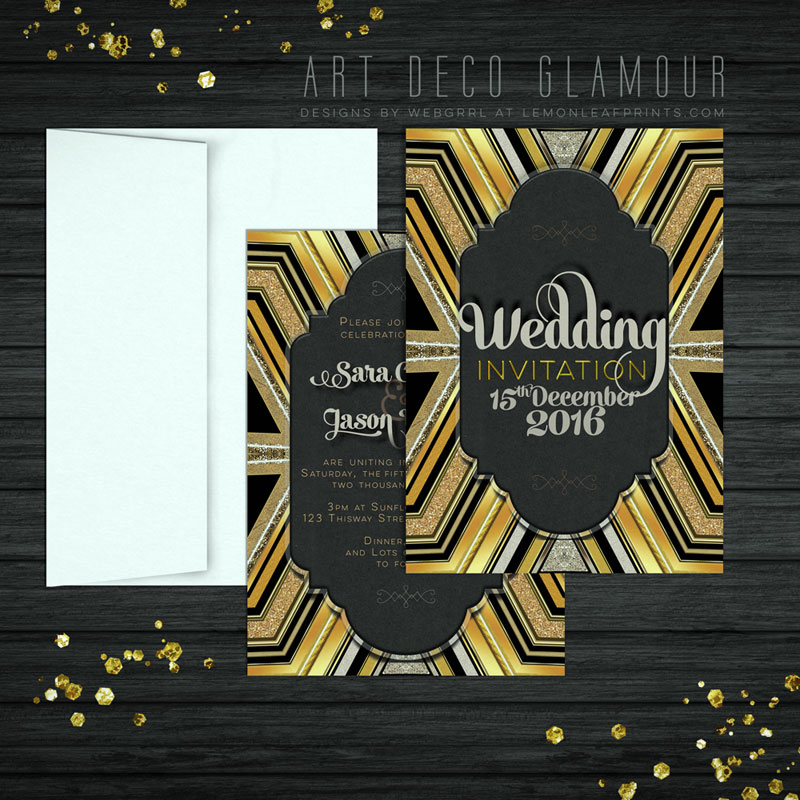 Gold-ArtDeco-ChlkB-Wedding-A7-flatcard-display-800