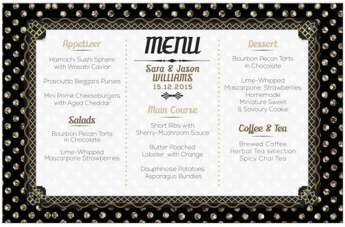 polka-deco-black-gold-wedding-menu