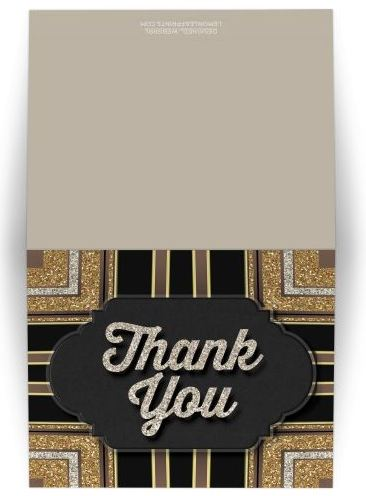 Stylin Art Deco Chalkboard Thank You Card