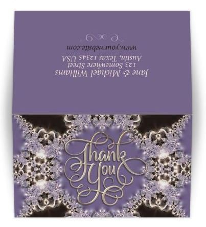 Thank You Purple Sparkle Lace Card