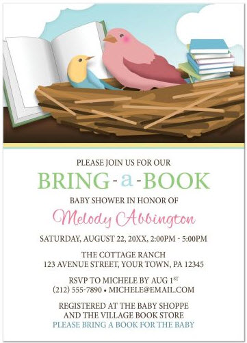 baby-shower-invitations-bird-nest-bring-a-book