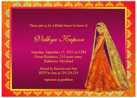 Indian Baby Shower Invitations – Indian Baby Shower Invitation Cards