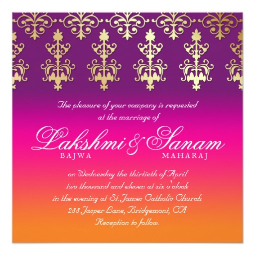 Hindu Indian Wedding Invitations