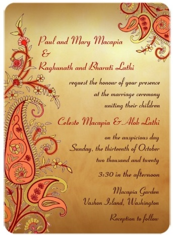 Delightful Paisley_floral_gold_red_orange_indian_wedding_invitation ·  Exotic_passion_red_gold_wedding_invitations ·  Indian_wedding_invite_damask_pink_purple_orange