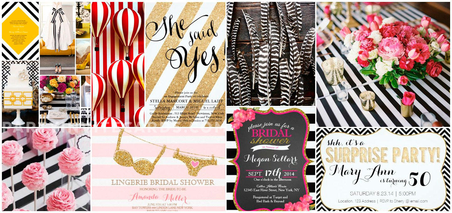 42 Eye Catching Stylish and Modern Striped Invitations