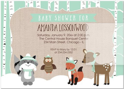 7168f8ae8421 winter-woodland-forest-animals-birch-tree-baby-shower-. Shop Invitations