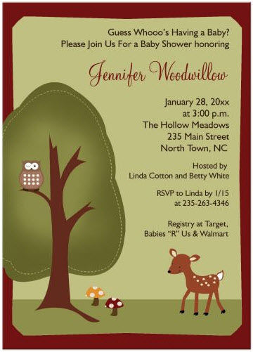 woodland-deer-nature-theme-gender-green-baby-shower-invitation