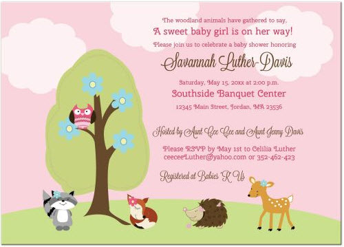 adorable animals baby shower invitations, Baby shower invitations
