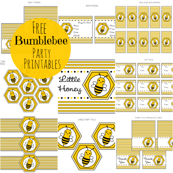 Download the free Bumble Bee printables