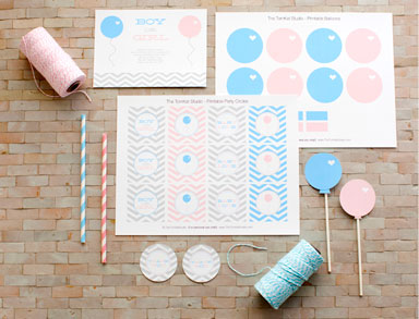 Pink or Blue? Baby Shower Printables - Free download