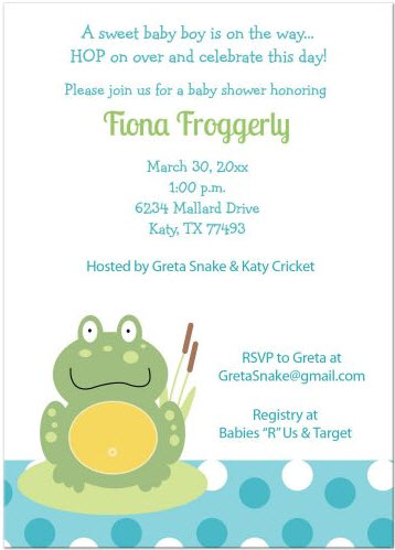 green-pond-frog-blue-dot-baby-shower