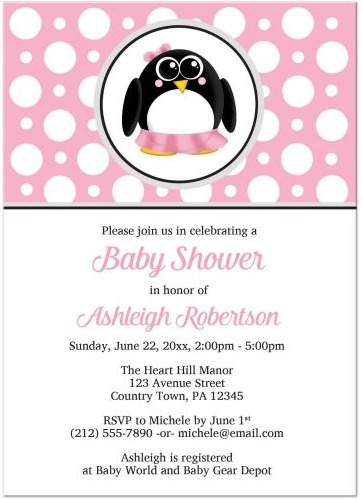 Pink-Penguin-Polka-Dot-babyshower-Artistcally