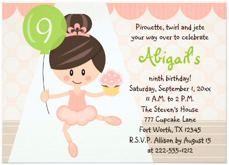 cupcake_ballerina_birthday_brunette_5x7_paper_invitation_card
