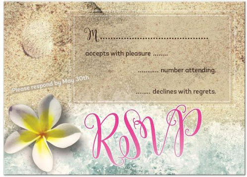 By the Beach RSVP Acceptance Card | 3.5'x4.875' (4Bar)