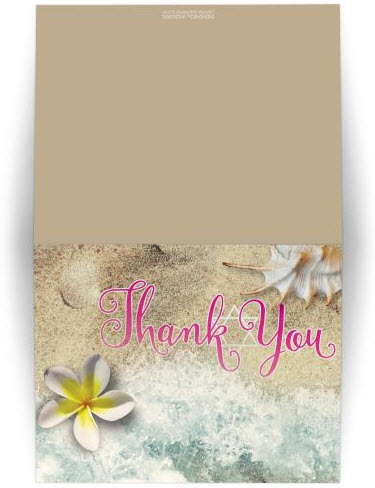 By the Beach Star of David / Bat Mitzvah Thank You Card