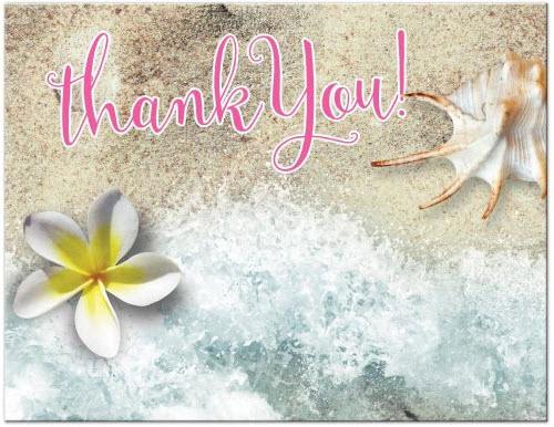 by-the-beach-thank-you-postcard-frangipani-seashell