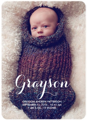 sweet_welcome_two_photo_modern_birth_announcement