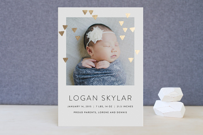 20 Adorable Baby Photo Birth Announcement Cards – Photo Birth Announcement Cards