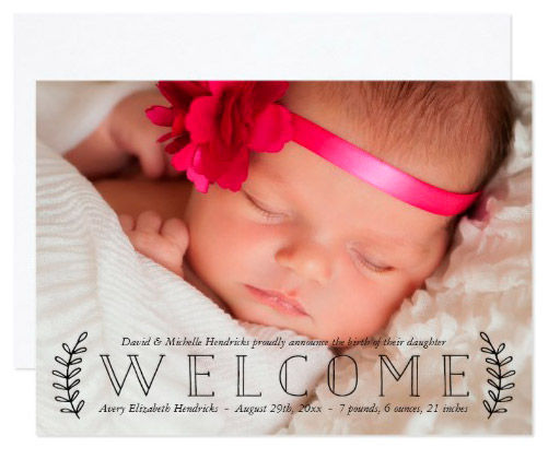 rustic_laurel_photo_birth_announcement