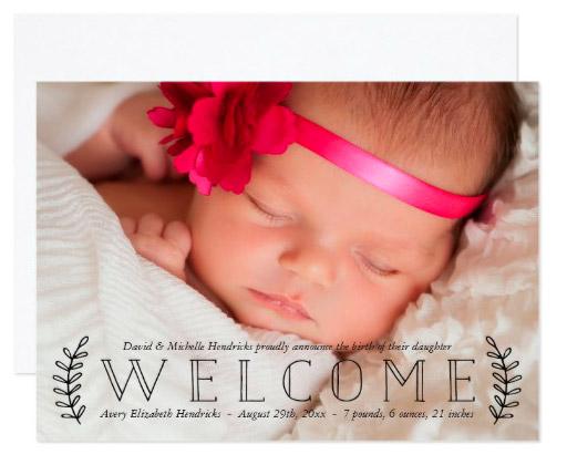 rustic_laurel_photo_birth_announcement