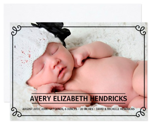 vintage_frame_photo_birth_announcement
