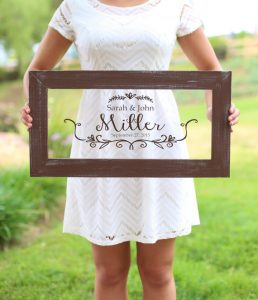 Personalized Calligraphy Wedding Sign by braggingbags (Etsy) | under $40 USD