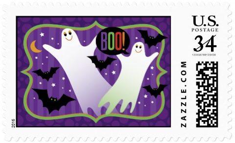 boo_cute_halloween_postcard_postage_stamp
