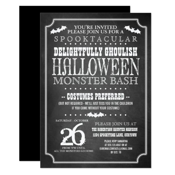 chalkboard_halloween_costume_party_card