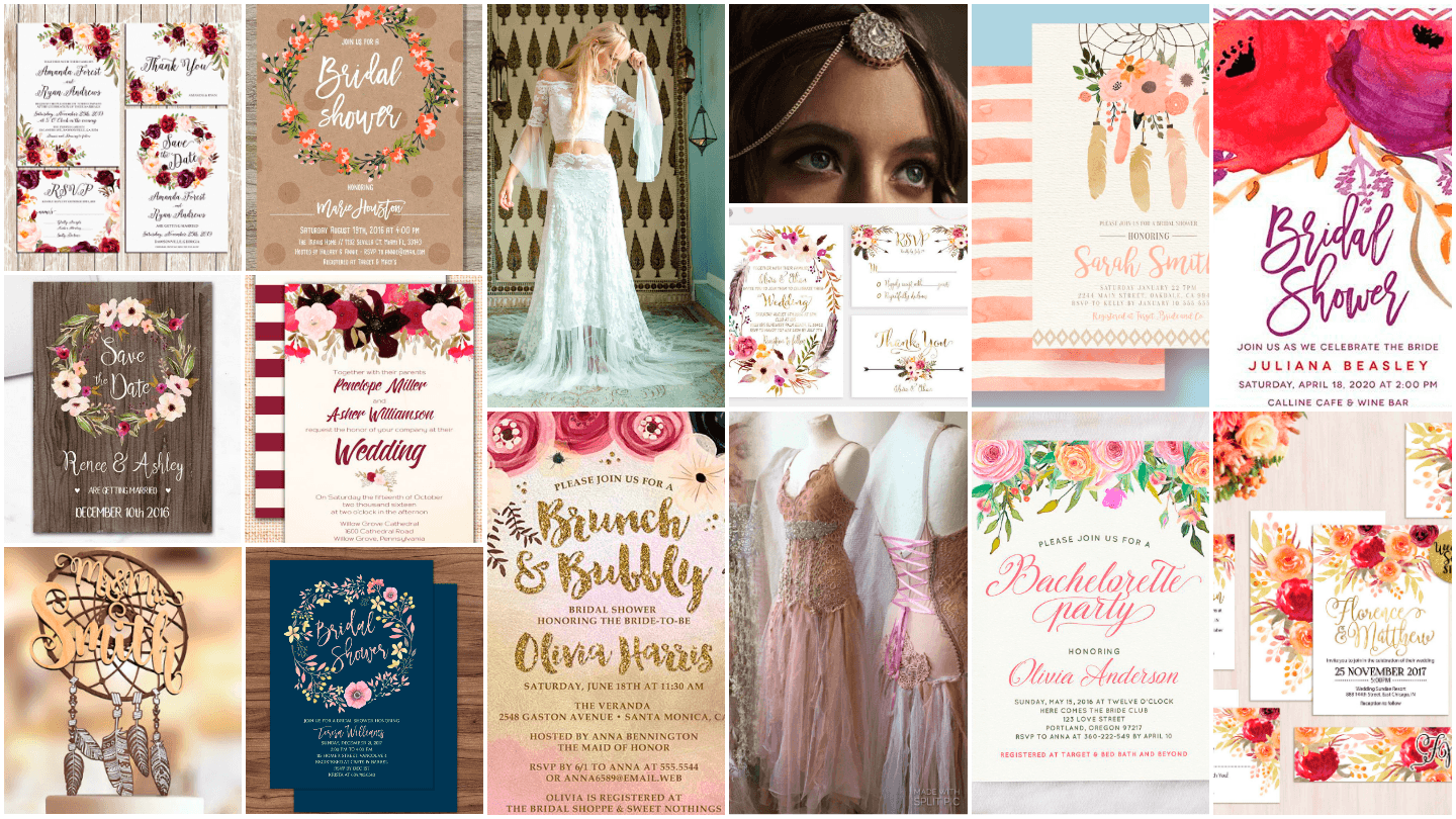 Bohemian Boho Wedding Invitation Amp Decor Guide