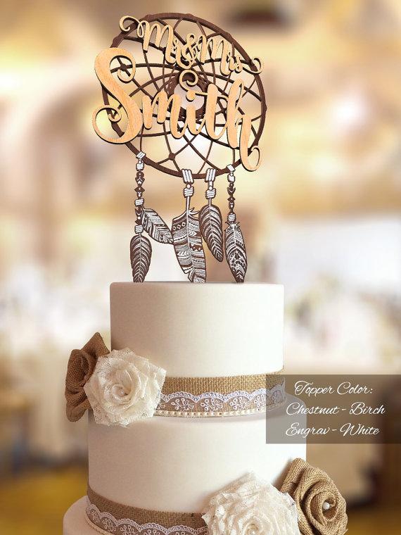 boho-cake-topper-boho-wedding-cake